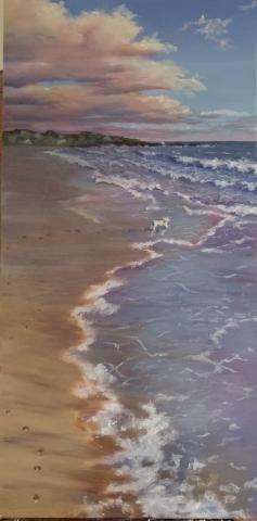 "Oil on canvas, 24""x12"""