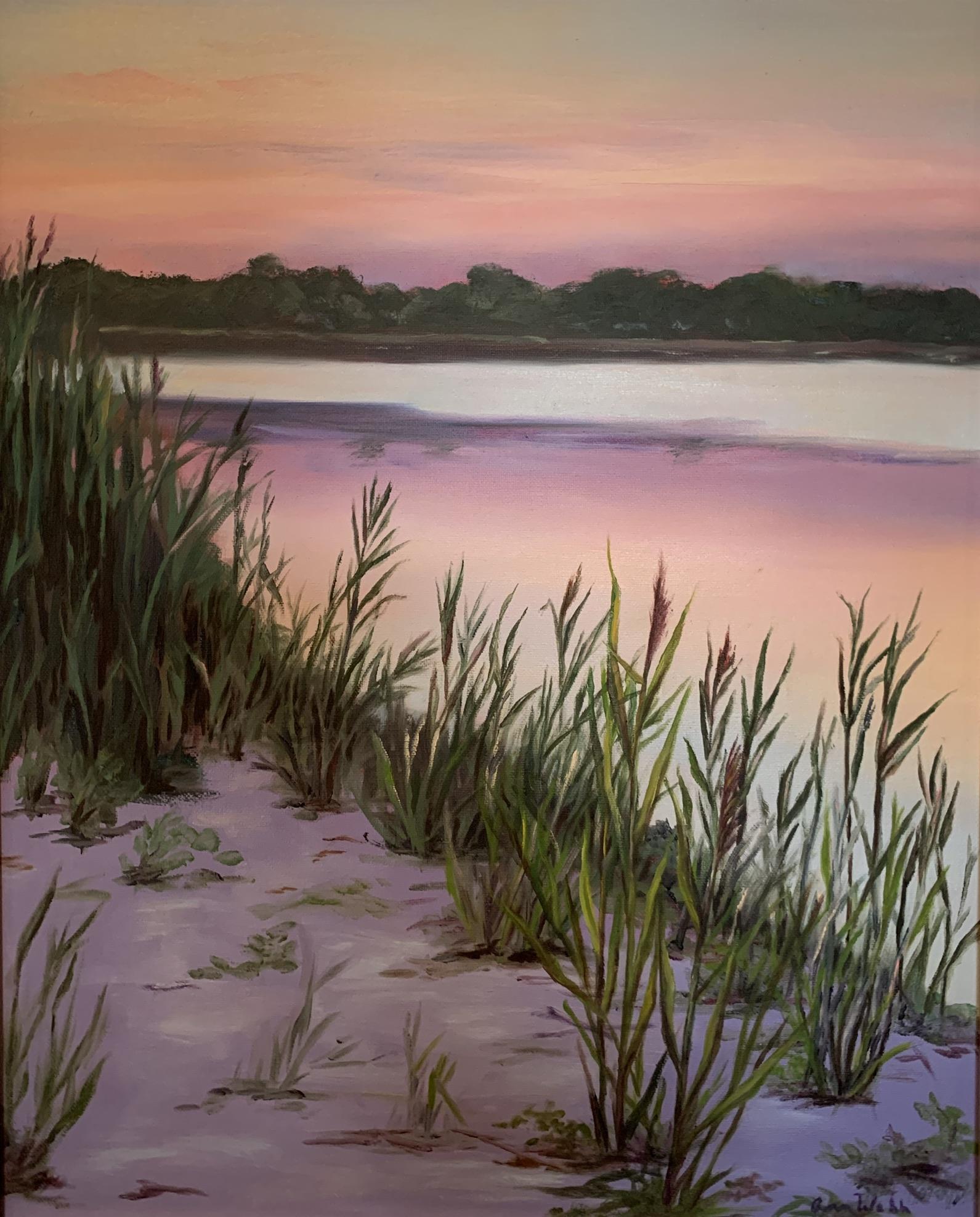 "Oil on canvas, 16""x20"""