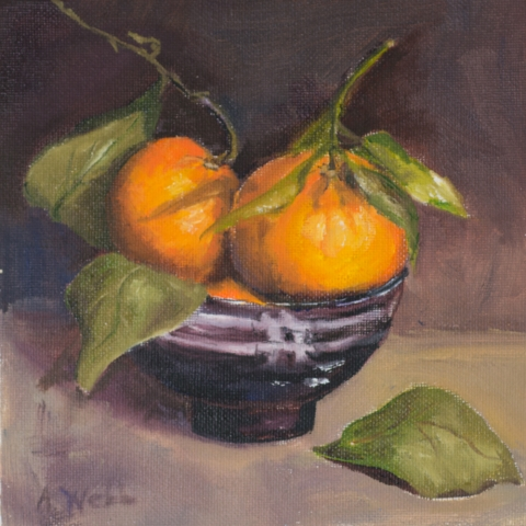 """6""""x6"""" oil on Canvas.  SOLD"""